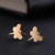 Trade Assurance ESS2109 Trendy Animal Gold Steel Color Earrings Stainless Steel Butterfly Stud Earrings For Wedding Jewelry