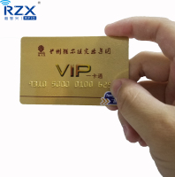 Plastic PVC Gold Foil Embossed number business cards with cr80 size credit card like