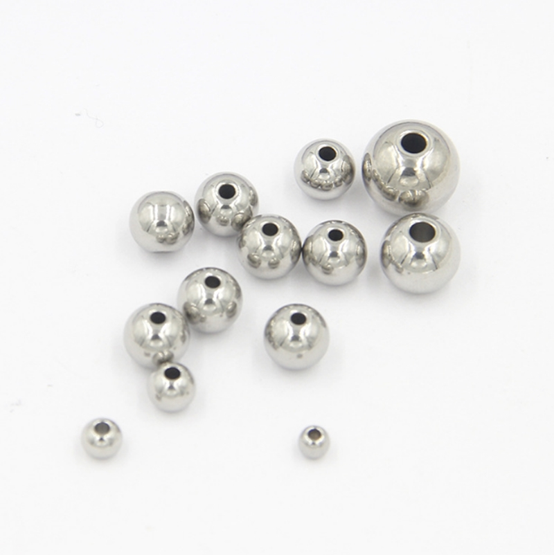 304 stainless steel metal beads with drilling 10mm diameter with 3.3mm hole