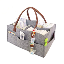 Kaiguang Multi-pockets portable storage nursery organizer baby felt diaper caddy <strong>bag</strong> felt mummy baby diaper <strong>bag</strong>
