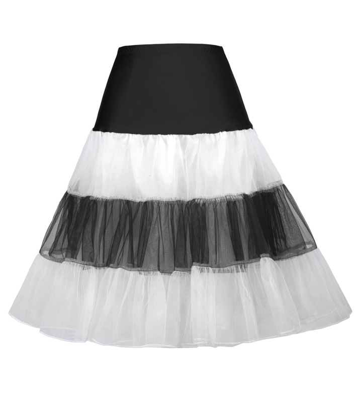 Grazia Karin CL008922 22 Colori Disponibili Donne A-Line Short Retro Vintage Dress Crinolina Rockabilly Petticoat Sottogonna