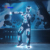 Futuristic LED Robot Costumes Luminous dancing bodysuits Cosplay Rave Clothes Halloween Costumes Performance Wear