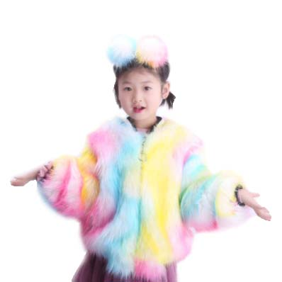 2019 New designs winter faux fur coat kids fur coat women winter snow warm coat jacket matching fur boots headband headband set
