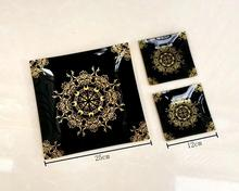 3pcs tempered glass <strong>plate</strong> snack set with gift box