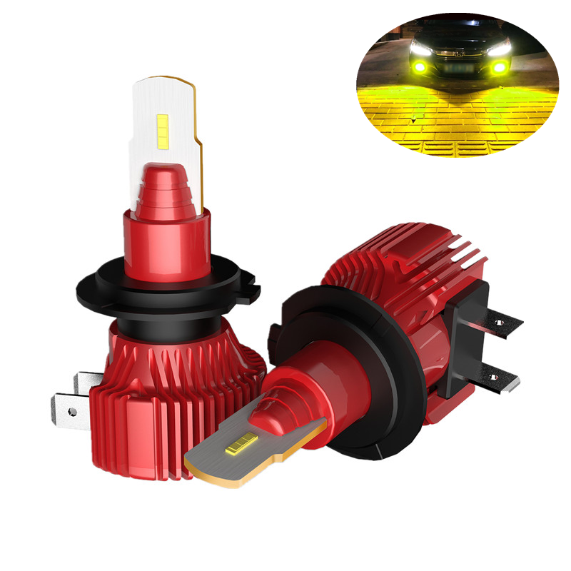R3 H7 Car Auto LED Fog <strong>Lamp</strong> headlight for VW 72W CSP H3 H4 H7 H11 9005 9006 9012 LED day time running light DRL fog light bulbs