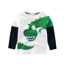 2019 wholesale fashion dinosaur <strong>boy's</strong> long sleeve t shirt <strong>boy's</strong> boutique clothing printed boy clothes