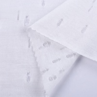Good service spun white cloth 100% polyester knit fabric material