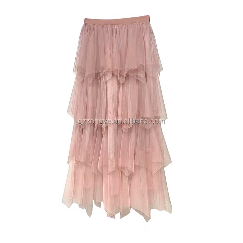 Layered women  mesh skirt, gathers women beach skirts,  vacation style
