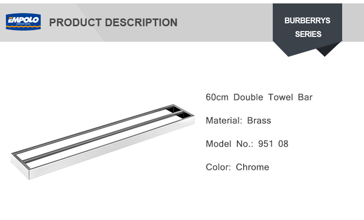 Wholesale High Quality Hotel Antique Bathroom Accessories 60CM Double Towel Bar