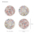 terrazzo Coasters for Drinks,Round Drinks Absorbent Stone Coaster