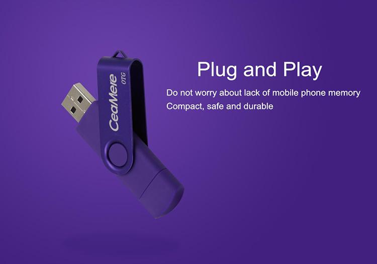 Ceamere CMC5 XC OTG USB Flash Drive 128GB 64GB 32GB 16GB 8GB 4GB 2GB Pen Drive Smartphone Pendrive OTG 2.0 USB Flash Drive