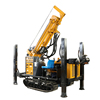 200m portable diesel engine hydraulic track mounted open-pit water well drilling rig