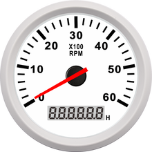 85mm Gasoline Diesel Engine Gauge Motorcycle Tachometer RPM <strong>Meter</strong> 0-6000RPM