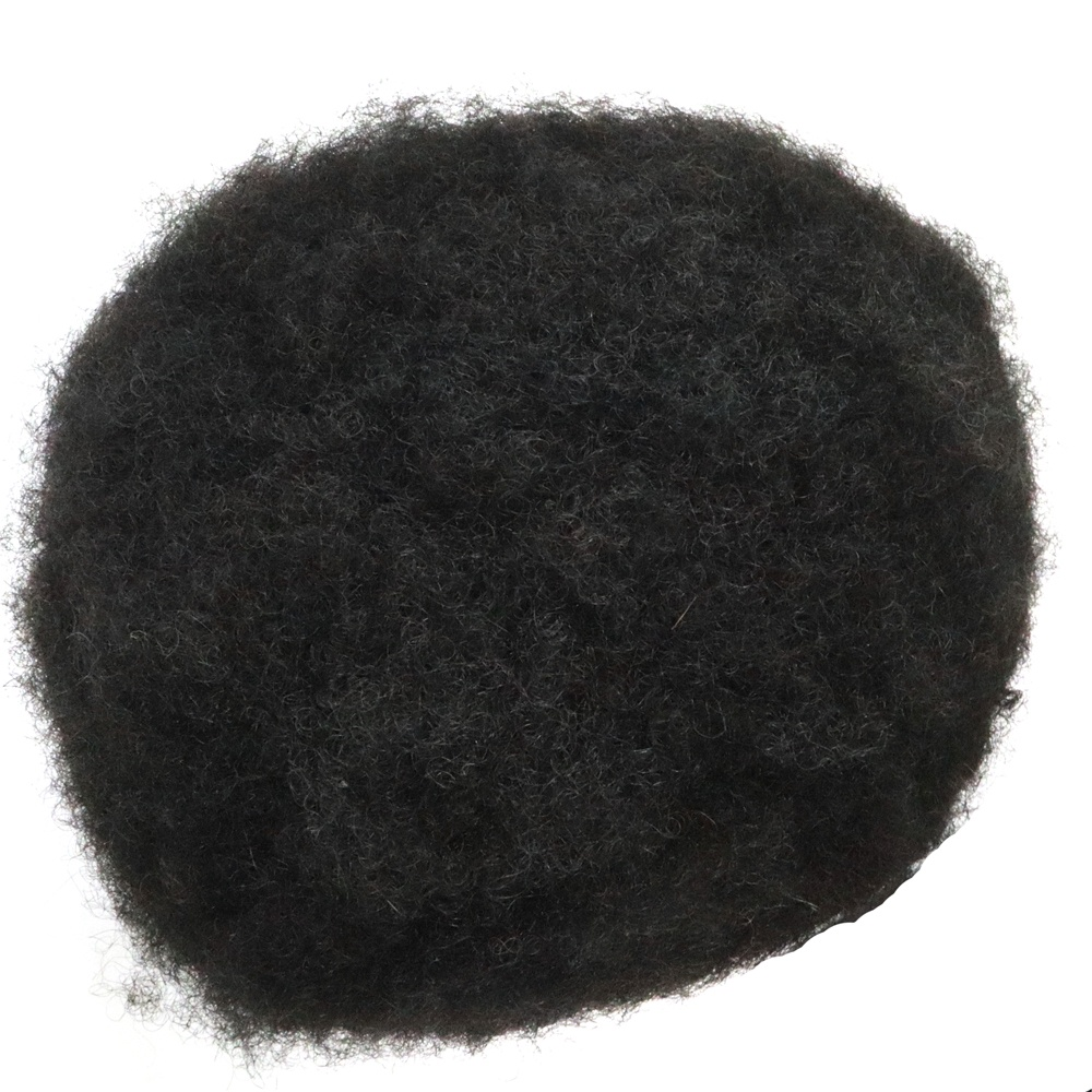 Stock Afro Curl French Lace With Poly Skin Hair Replacement <strong>Black</strong> Mens Toupee