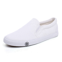 New Arrival Comfortable Manufacturer Plain Sneakers Cheap White Casual Canvas Shoe for Women