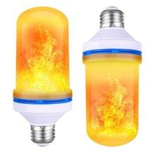 LED Flame Lamp E27 E26 B22 Light <strong>Bulb</strong> Flame Effect Fire Lamps led flame <strong>bulb</strong> for for Halloween Decorations