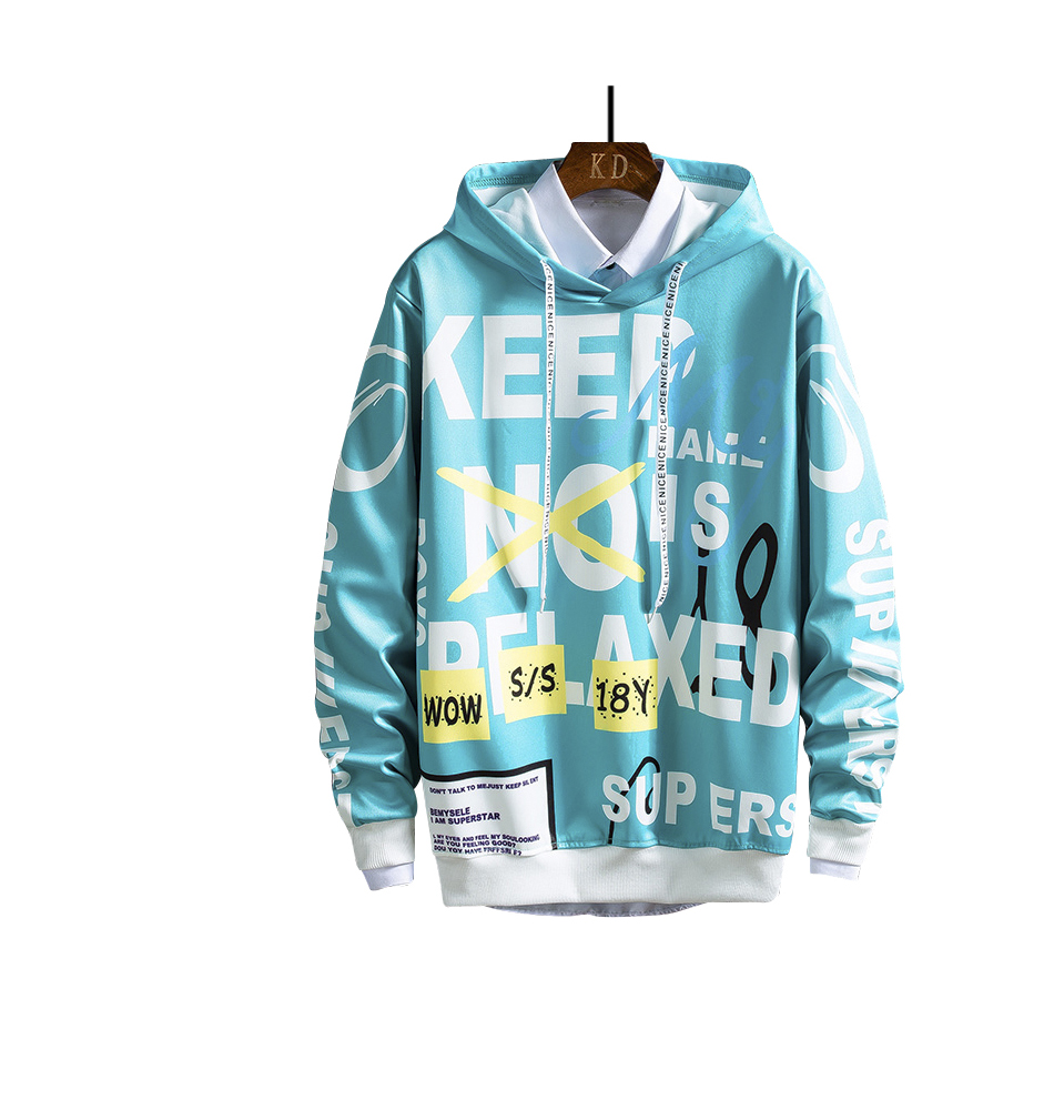 Cheap price men spring autumn long sleeve hip hop hoodies sweater casual fasion sports loose pullover apparels for men boy