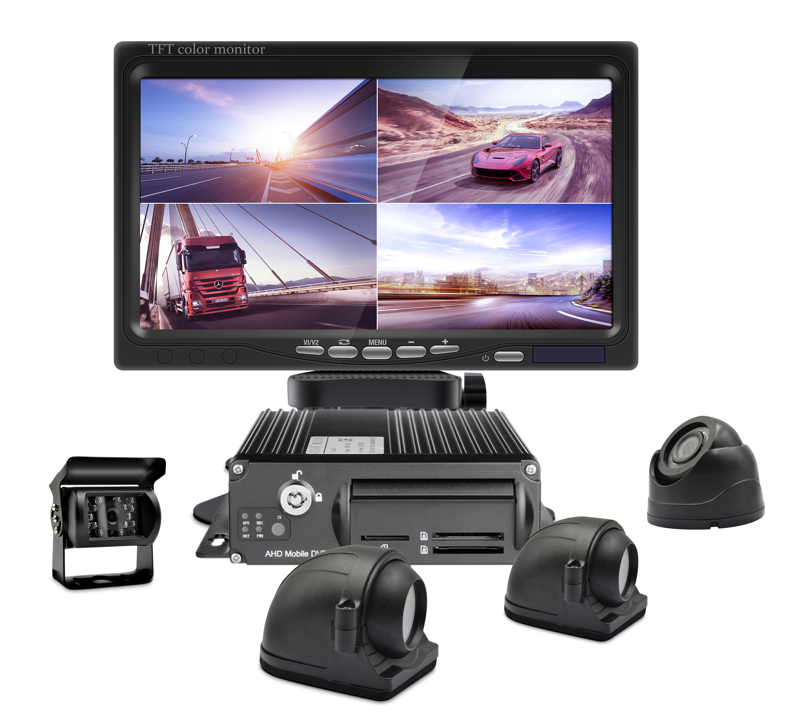 4 <strong>Channel</strong> 1080p H.264 Car Black Box GPS Tracking 3G 4G WiFi Mobile DVR Dash Cam Vehicle Bus Truck Safe Reversing Aid