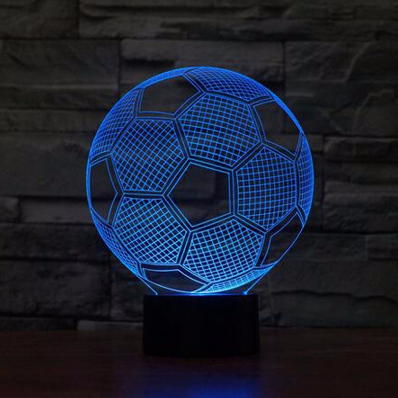 Customized Football Club 3D Optical Illusion LED Lamps Night Light
