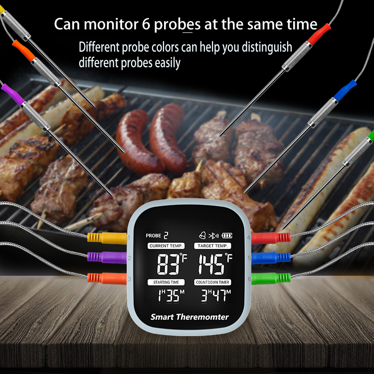 Hot Sell Meat Thermometer BBQ Bluetooth Digital Probe Thermometer