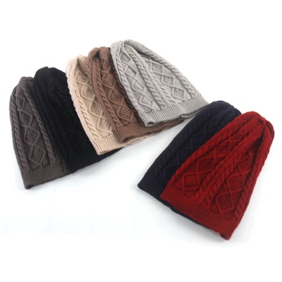 Women <strong>Men</strong> Various Styles Warm Cap Slouchy woolen Yarn Knitting Pom Pom Beanie Knitted Hat