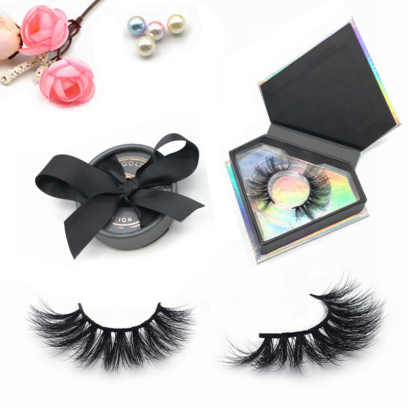 Wholesale private label 3d faux mink fur false eyelashes 3d synthetic silk eyelashes with packaging box