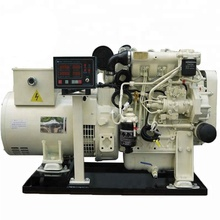 Zhongshan industrial 30KVA 24KW 1500 / 1800rpm Silent Marathon alternator low noise Small Marine Diesel Generator for sale