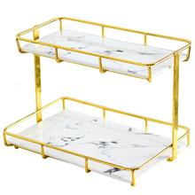 Multi-layer desktop cosmetics receiving box skin care products perfume dressing table shelf <strong>bathroom</strong> wash gargle table tray