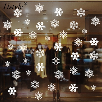 38pcs Christmas Snowflake Window Decal Stickers - Xmas Holiday White Winter Christmas Window Decorations Ornaments Party QT005