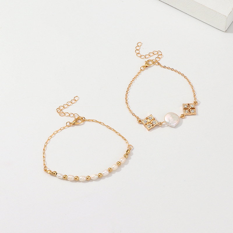 new vintage baroque pearl bracelet gold jewelry set women alloy crystal jewelry sets