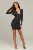 Top Quality Long Sleeve Celebrity Bodycon Evening Party Cocktail Dress