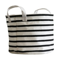 wholesale cheap large round kids dirty clothes laundry hamper foldable canvas toy storage basket