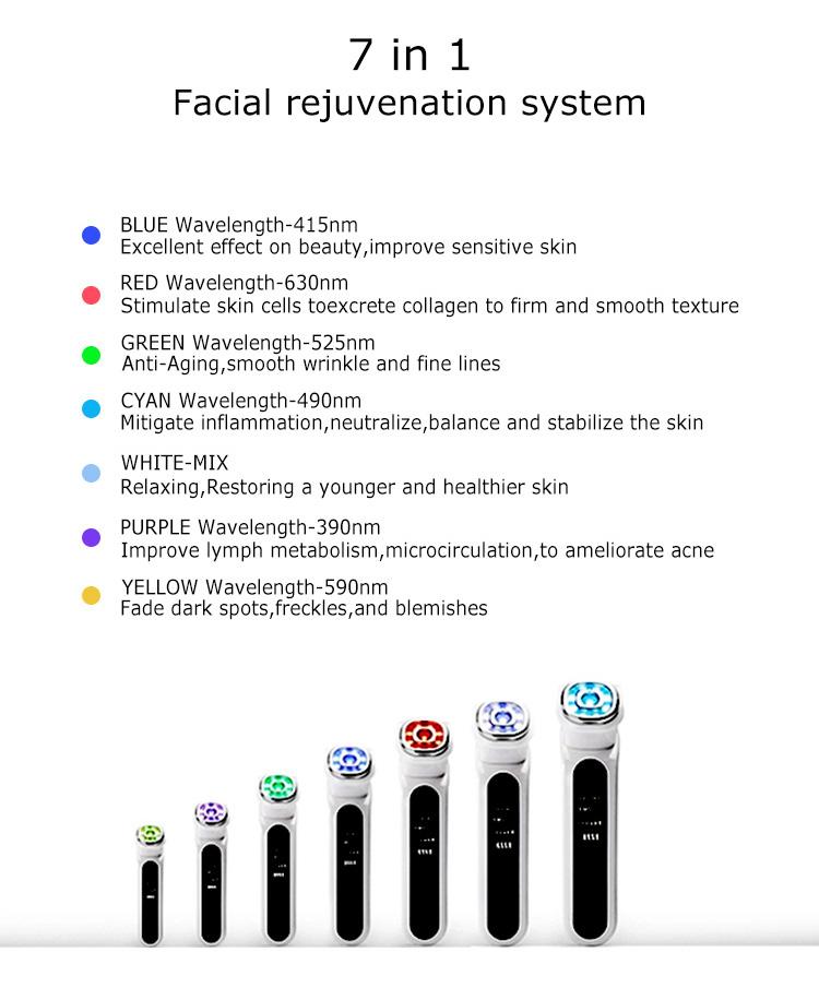 5In1 Rf Ems 라디오 Mesotherapy Electroporation 얼굴 아름다움 펜 주파수 Led 광자 피부 회춘 제거제 주름 모노