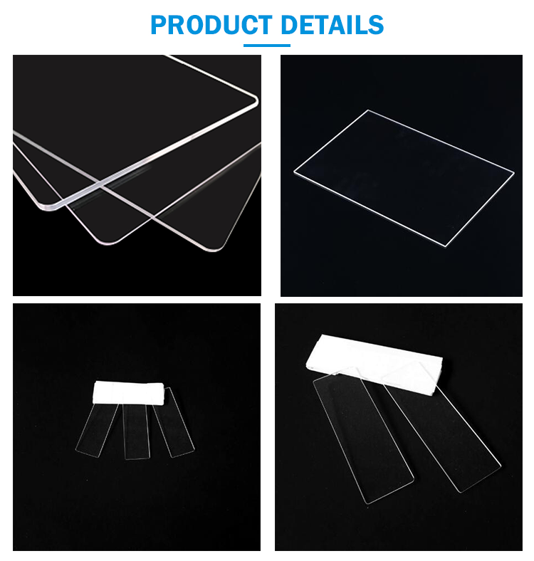 Alkali resistance Clear Quartz Slice Silica Glass Plate with High Quality