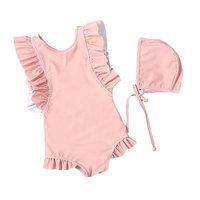 Wholesale girls swimwear sleeveless swimsuit for children
