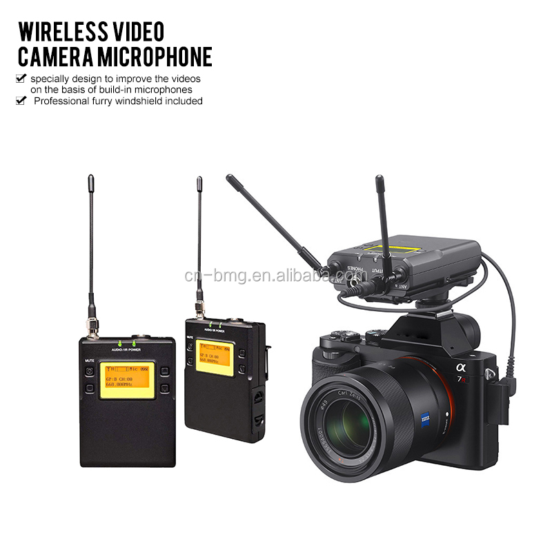 UWP-<strong>D11</strong> Video <strong>Camera</strong> Wireless Microphone with 2 Transmitters 1 Receiver For DSLR <strong>Camera</strong>, Camcorder and Iphone/Android Smartphone