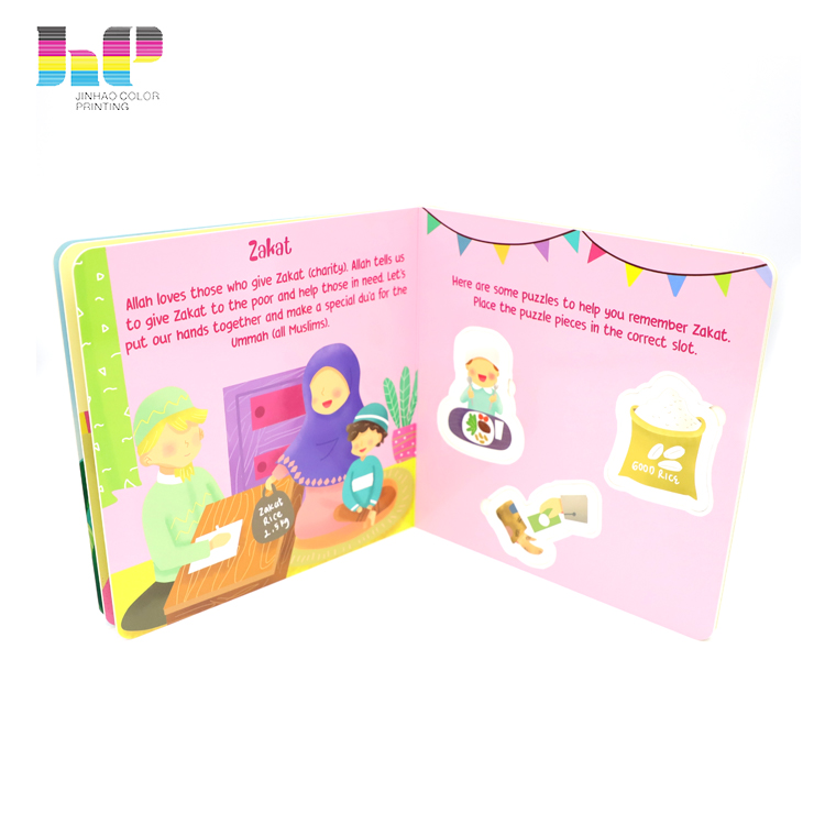 Hardcover Children Cartoon Card Books Coloring Printing,professional colour printing in China,glossy lamanation colour printing card books for kids