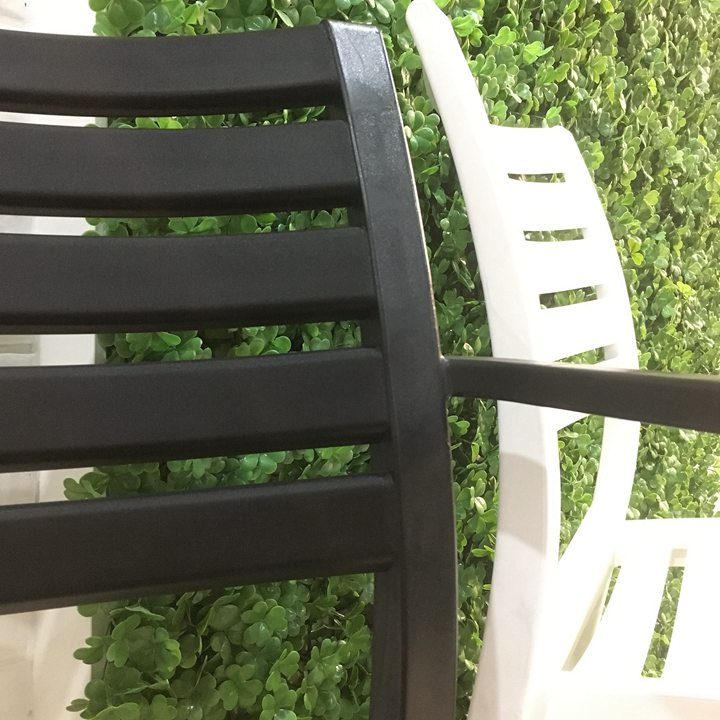 Hot Sale Cheap price bulk modern full plastic pp stackable stacking outdoor patio pro garden chairs with arms