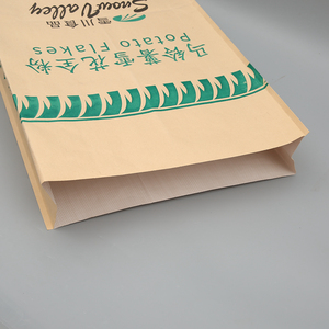 BOPP / PP Laminated Plastic kraft paper bag with PP woven laminated lining