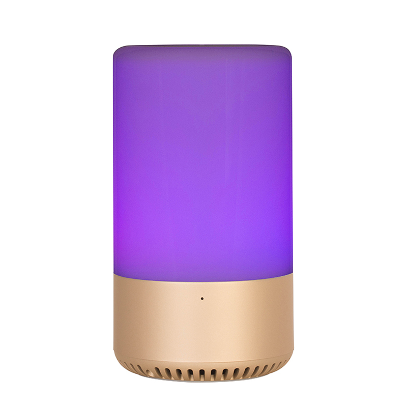 Portable Smart Touch-Sensor Bedside Lamp, Bluetooth Speaker LED Night Light with APP TF Card AUX ,7 Color Changing