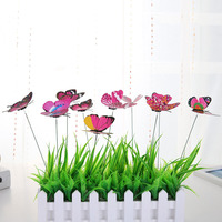 Hot sale plastic garden butterfly stakes for home & garden decoration
