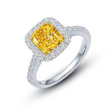 Popular Valentine Gift 3.0 carat Radiant Cutting Simulated Diamond Jewelry <strong>Rings</strong> in 925 Sterling Silver