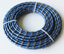 9mm Diamond Plastic Wire <strong>Saw</strong> for Granite Profiling Cutting Granite Wire Rope