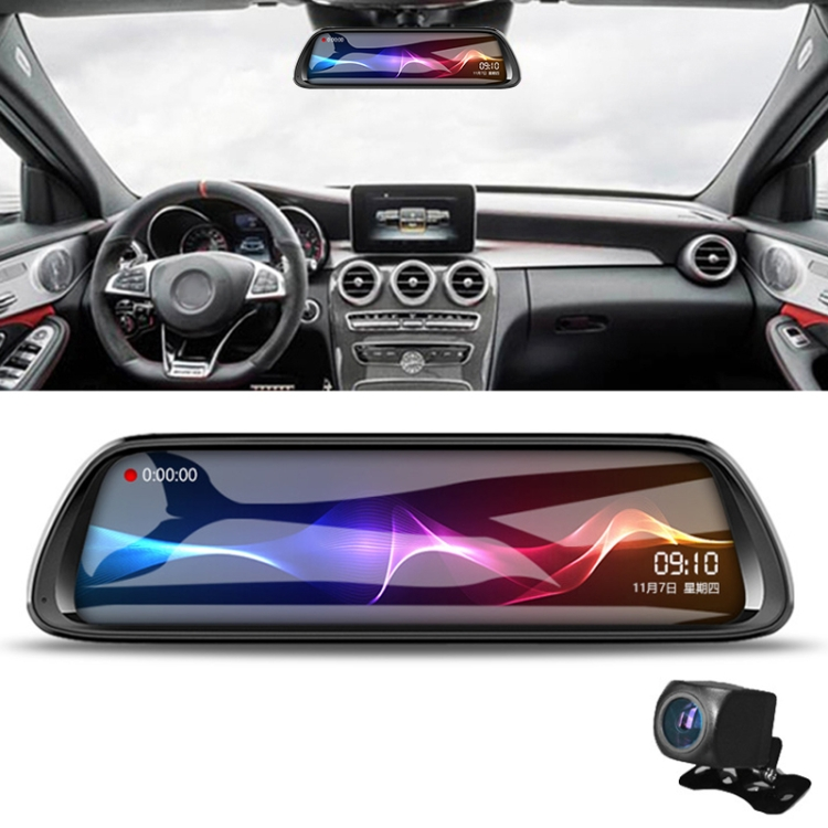 K62 10 inch Full HD Starlight Night Vision 1080P Multi-functional Smart Car Dual Lens DVR, Support TF Card / Motion Detection