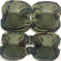 Hot sale outdoor tactical black military elbow knee pads for army