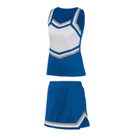 custom made metallic fabric girls cheer uniform