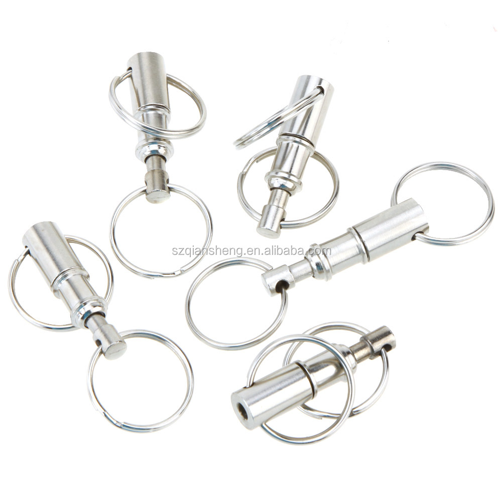 Quick Release Pull-Apart Key Removable Handy Keyring Detachable Key Chain Ring Stainless Keychain Accessory