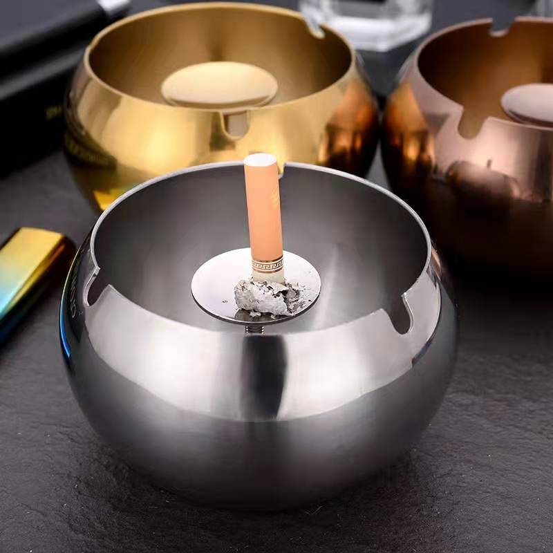 OEM metal products <strong>manufacturer</strong> Round Stainless Steel metal Cigarette Ashtray