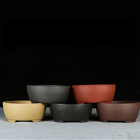 Bonsai pot Unglaze Small Bowl shape flowerpots basin China YiXing Bonsai pots garden plant flowerpot Purple sand Classical