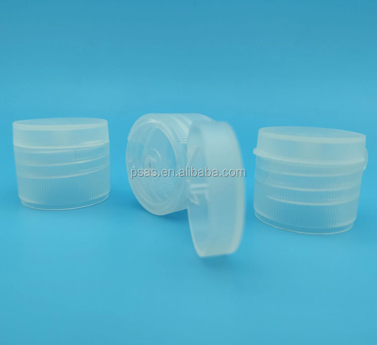 Wholesale 28/410 transparent flip top cap plastic disc screw lotion cap